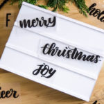 DIY Handlettered Holiday Lightbox