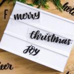 DIY Handlettered Holiday Lightbox