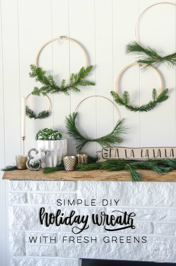 i love these simple hoop wreaths with fresh greenery the perfect amount of christmas without - Fresh Christmas Greenery