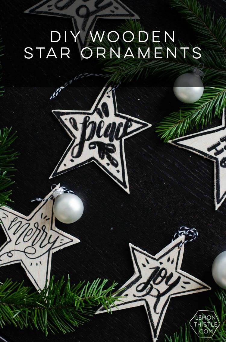 10 Minute Diy Scandi Inspired Wooden Star Ornaments Lemon Thistle