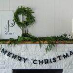 DIY Felt Letter Christmas Garland
