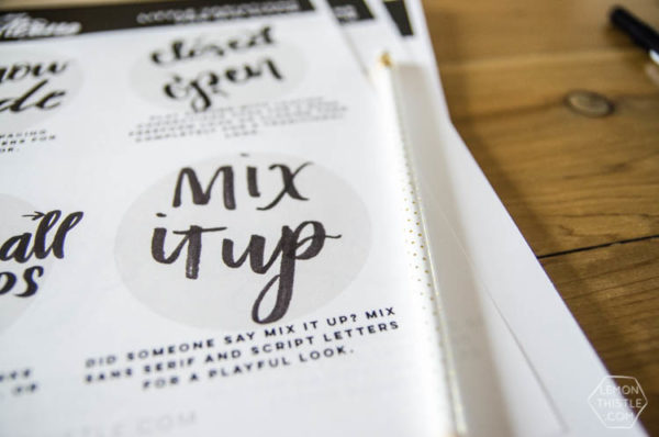 Learn Brush Lettering online workbook preview