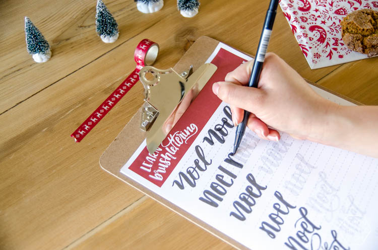 Noel Handlettering Practice Sheet Lemon Thistle. Free Printable Noel Holiday Brush Lettering Worksheet What A Great Idea To Practice Handlettering This. Printable. Holiday Worksheet Printables At Mspartners.co