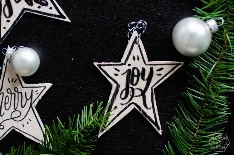 These DIY wooden star ornaments add some monochromatic charm to your Christmas tree and are done with NO power tools in less than 10 minutes.