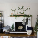 Black, White & Green All Over Christmas Home Tour