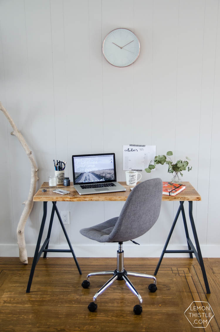 DIY Live Edge Desk- An Ikea Hack