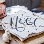 DIY Noel Holiday Sign (and the easiest way to letter on wood!)