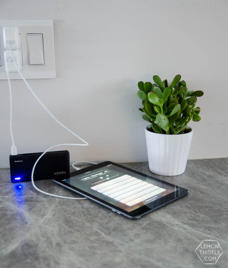 Diy Wall Mounted Charging Station Lemon Thistle
