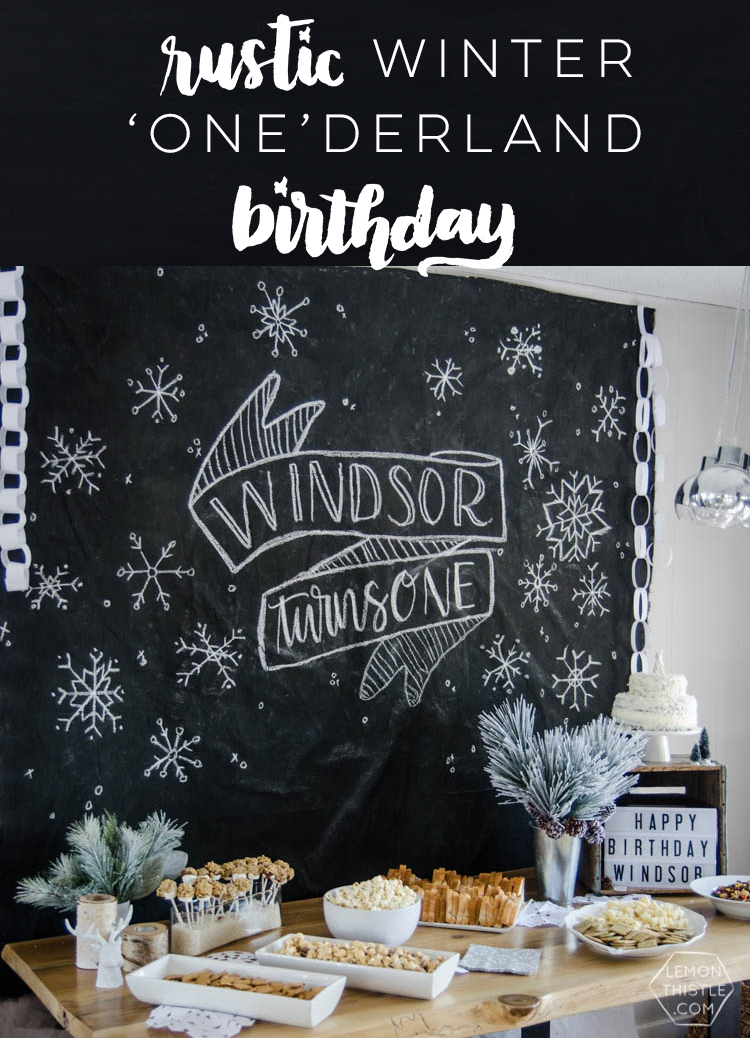 A Winter Onederland First Birthday... I LOVE this modern rustic update to a winter wonderland theme- perfect for a boy's birthday or shower