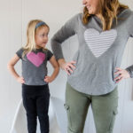 DIY Heart Shirts for Valentine's Day (the stripey kind!)