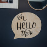 DIY Wooden Speech Bubble Sign