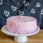 What a great idea! Decorating a grocery store bakery cake yourself- this ombre cake is gooorgeous and so easy!