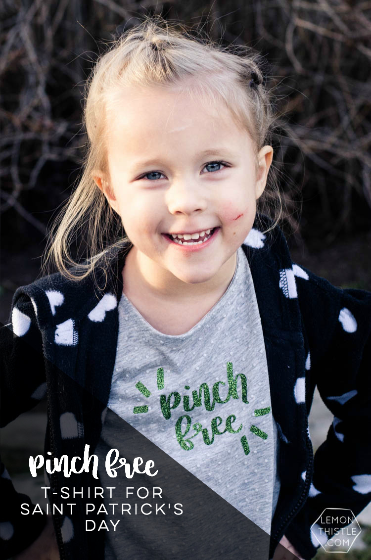 Pinch Free! Such a cute hand lettered design for a saint patrick's day shirt