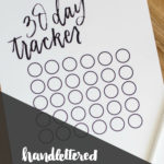 Handlettered 30 Day Tracker PLUS a Decluttering Diet