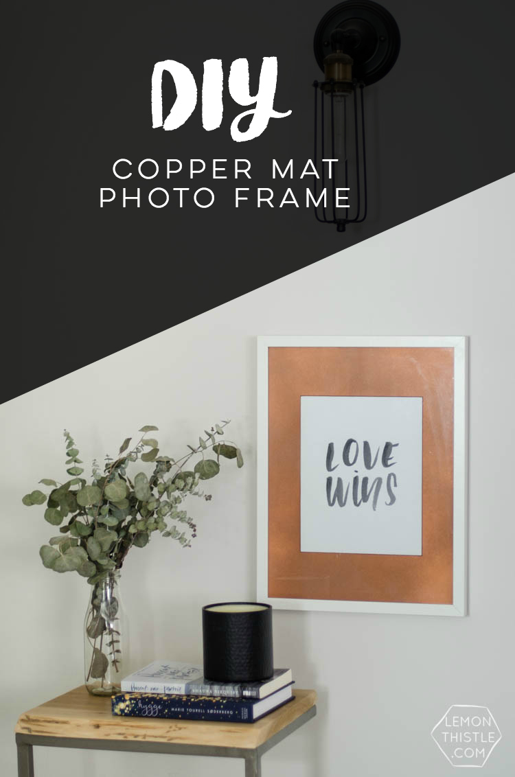 Diy Copper Photo Frame Mat This Is Such An Easy Upgrade