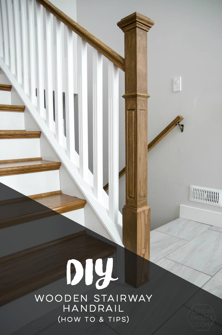 How To Install A Wooden Handrail On Split Level Stairs The Diy Way