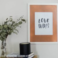 DIY Copper photo frame mat- this is such an easy upgrade!