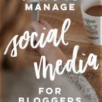 6 Tips to Manage Social Media for bloggers... these are so good to help make the most of time spent on it