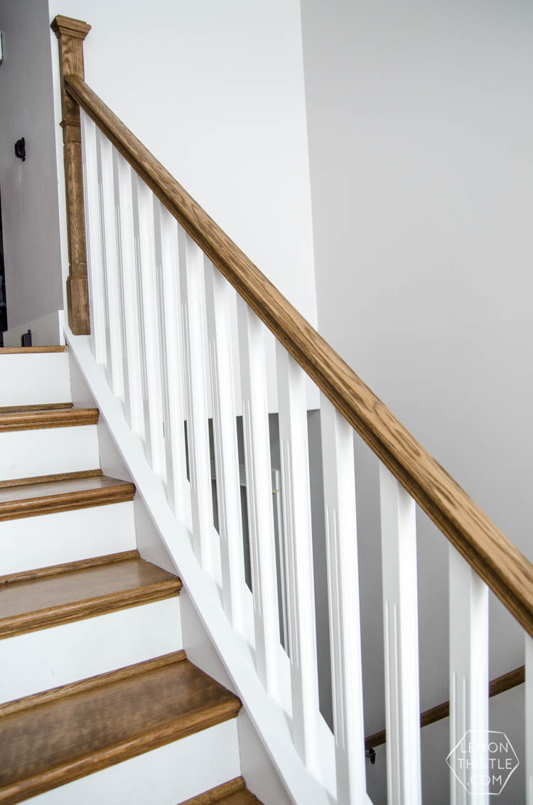 Ideal How to install a wooden handrail on split level stairs - Lemon Thistle MT49