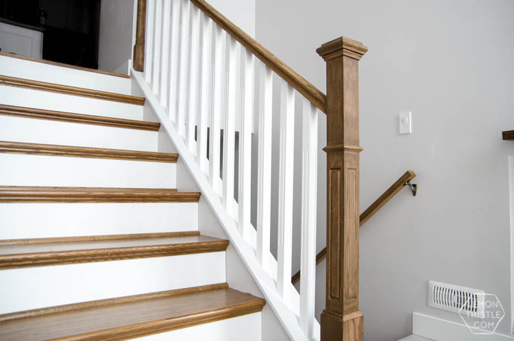 Perfect How To Install A Wooden Handrail On Split Level Stairs (the DIY Way)
