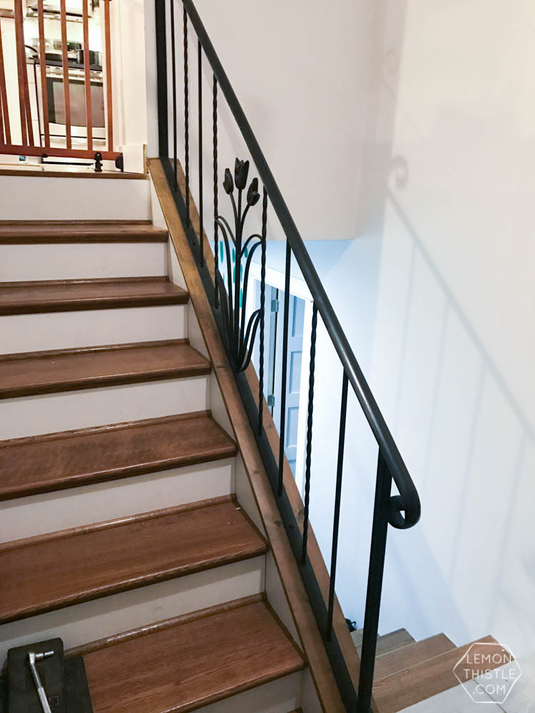 How To Install A Wooden Handrail On Split Level Stairs Lemon Thistle