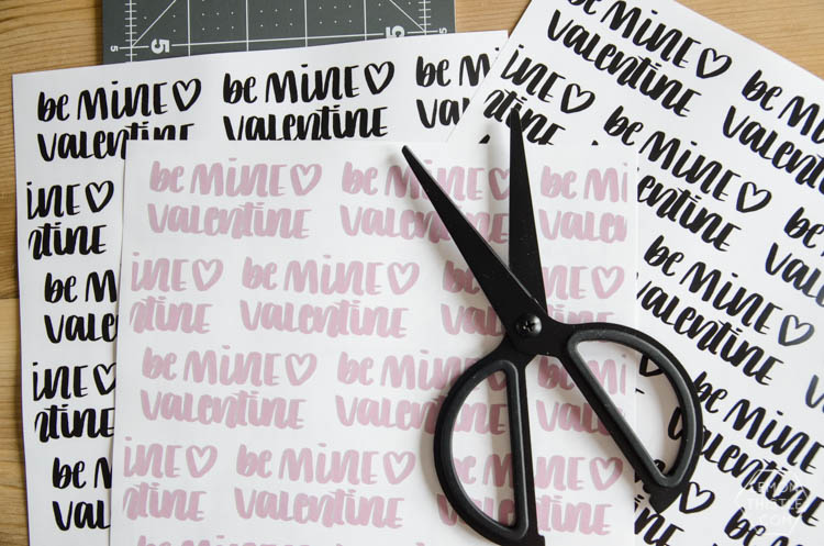 Valentines Treat Box printables- love the handlettering on these!