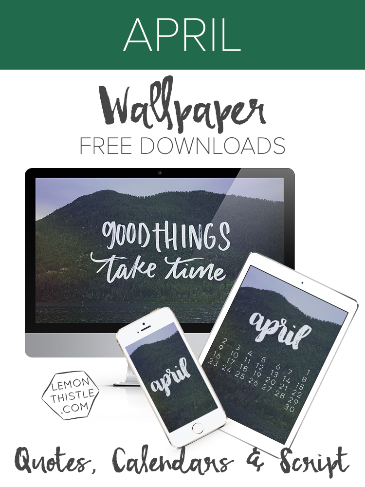 I love these tech wallpapers and printables! There's new quotes, scripts, and calendars each month for ipad, phone, and computer