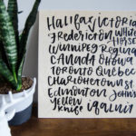 DIY Handlettered Canada Art PLUS an Exciting Announcement