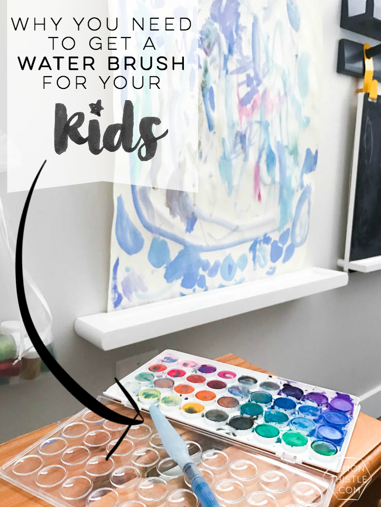 Why getting a waterbrush for your kids watercolor painting or art station will save your sanity
