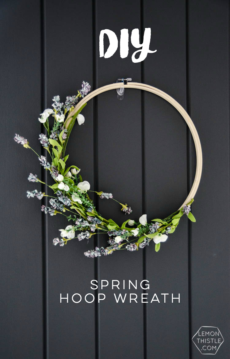 I love this simple spring hoop wreath! Perfectly spring-y without being over the top.