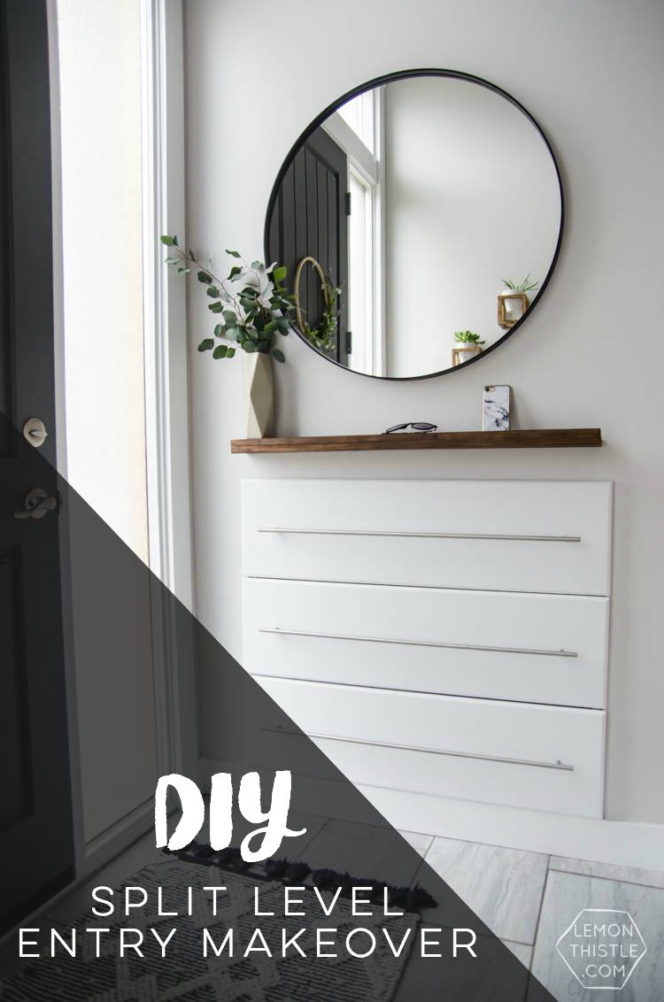 Diy Split Level Entry Makeover I Love This The Oversize Door Scandi