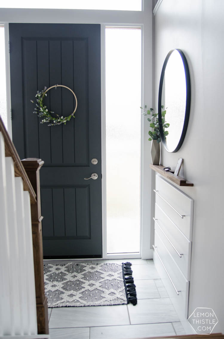 Split Foyer Entrance Ideas : A diy split level entry makeover before after lemon