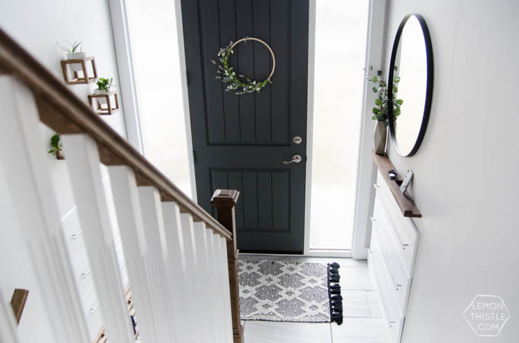 DIY Split Level Entry Makeover  I LOVE This Entry. The Oversize Door, Scandi