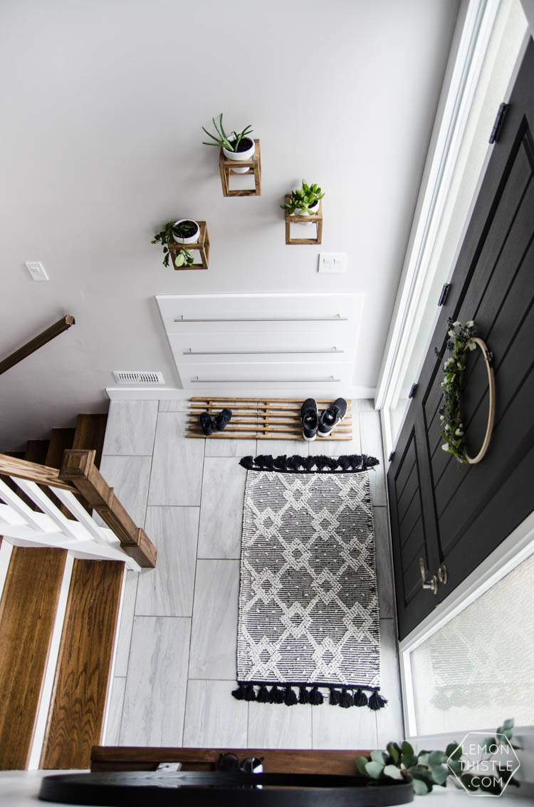 A DIY Split Level Entry Makeover Before After Lemon