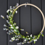Simple DIY Spring Hoop Wreath