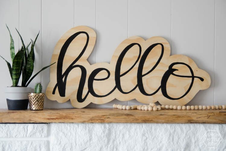 Diy Hello Cutout Plywood Sign Lemon Thistle