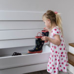 DIY Shoe Storage for a Split Level Entry