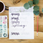 Spring Hand Lettering Practice Sheet