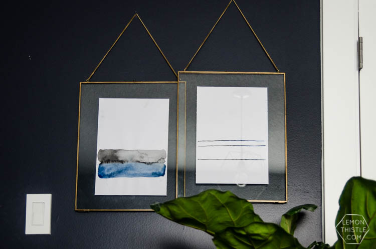 I love this simple watercolor painting duo! And the video tutorial makes it so easy to make.