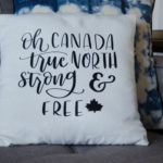 True North Strong and Free! DIY Canadian Throw Pillow