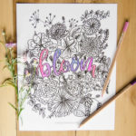 Bloom Free Coloring Sheet