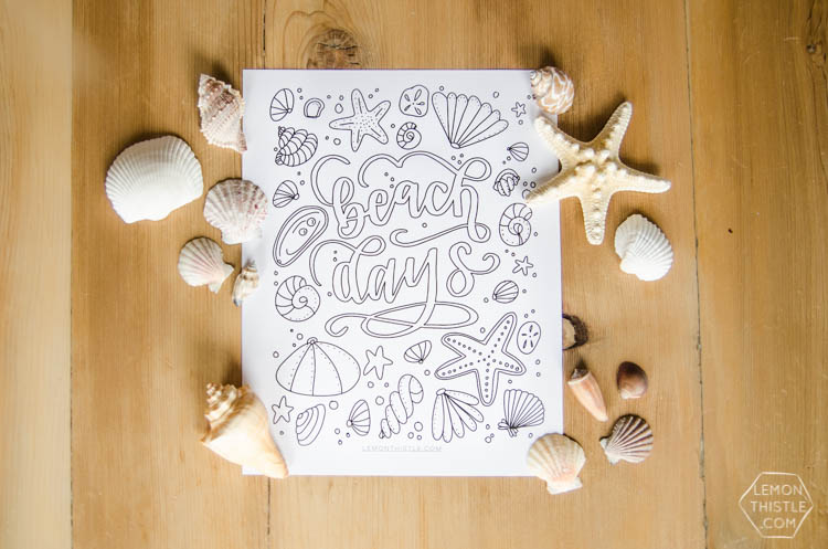 Love this free printable coloring sheet! Plus the hand lettering is rad.  Perfect for summer