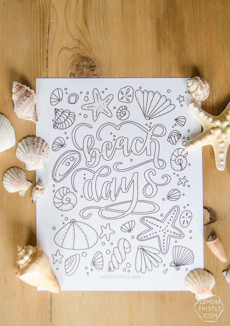 Love This Free Printable Coloring Sheet Plus The Hand Lettering Is Rad Perfect For