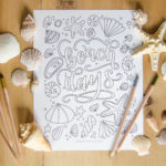 Beach Days Free Printable Coloring Sheet