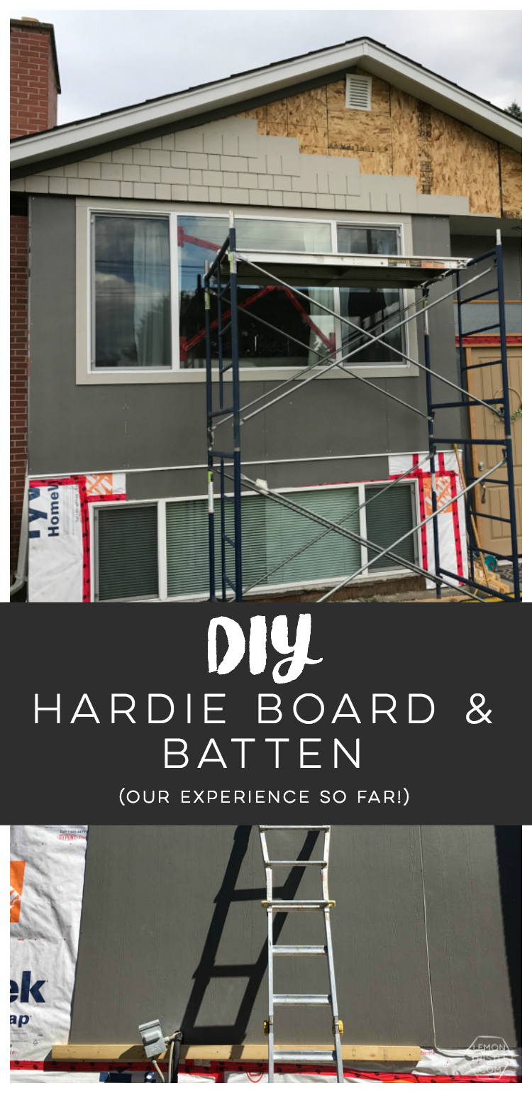 DIY Exterior renovation progress & hardie board and batten installation tips