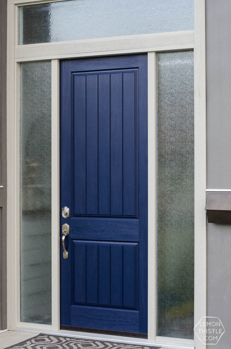 Front door update- painting and tape tips for an easy job