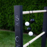 DIY Ladder Ball (with Chalkboard Score Keeper)