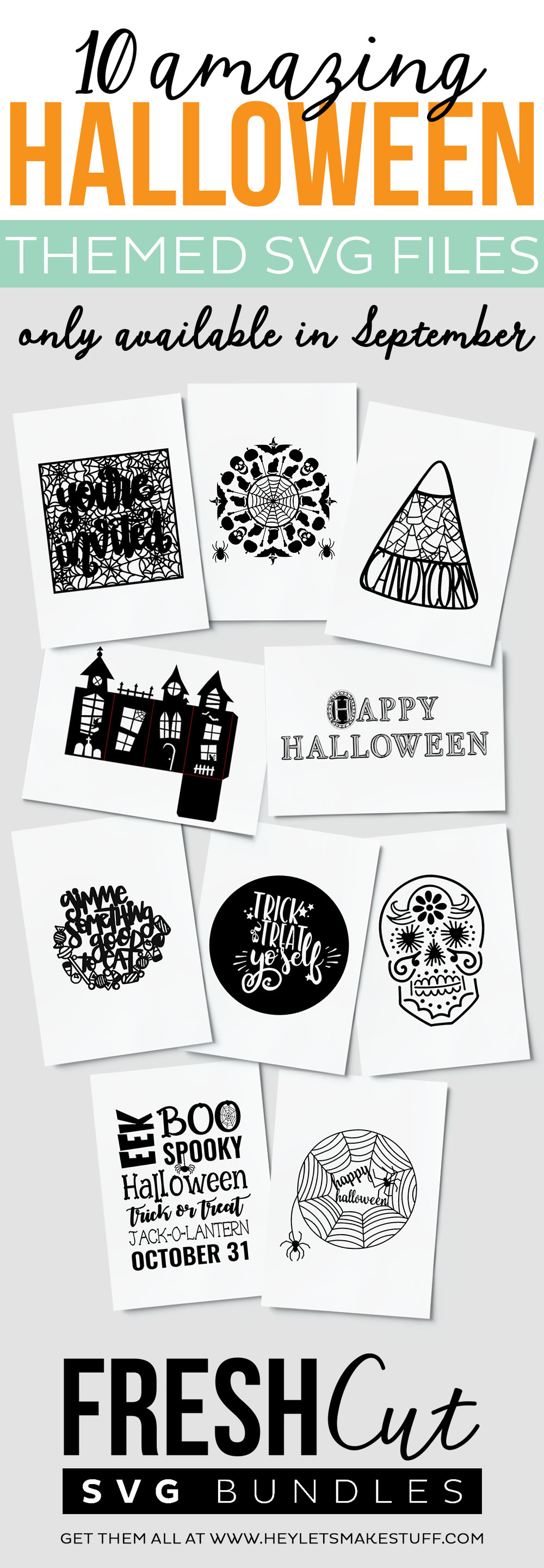 Halloween Fresh Cuts SVG Bundle- available only for September!