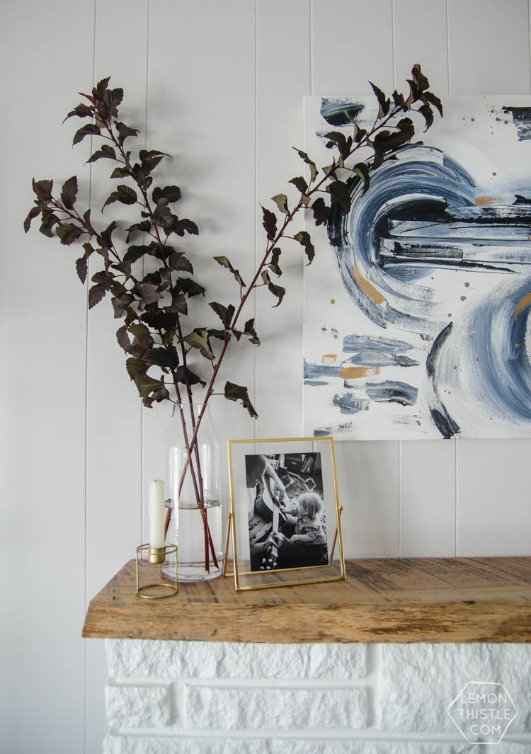 Love this natural and metallics autumn home tour