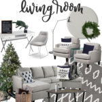 Grey and Textured Living Space for the Holidays